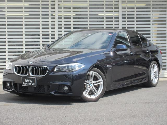 BMW 523d Mスポーツ ハイラインパッケージ LEDヘッドライト ブラックレザーシート 4席シートヒーター ウッドパネル レーンチェンジウォーニング アクティブクルーズコントロール ドライビングアシスト HDDナビ リヤビューカメラ 禁煙車