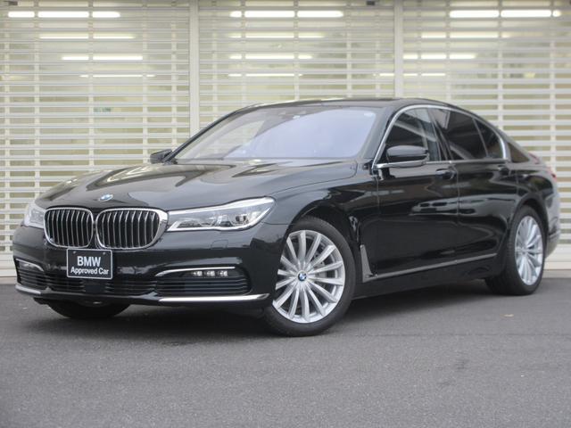 BMW 740i プラスパッケージ アダプティブLEDヘッドライト オプション19インチアルミ ヘッドアップディスプレイ アクティブクルーズコントロール 黒革 前席シートクーラーヒーター 後席シートヒーター 禁煙車