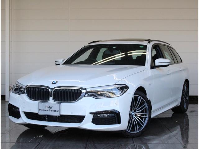 BMW 5シリーズ 523dツーリング Mスポーツ 正規認定中古車 パノラマルーフ harman/kardonサラウンド Bluetooth 地デジ パドルシフト ブラックレザーシート 前後PDC 全方位カメラ SOSコール LEDライト ETC 電動リヤゲート