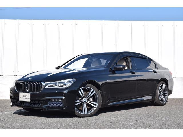 BMW 7シリーズ 750Li Mスポーツ 正規認定中古車 純正ナビ 地デジ 左右Rモニター 全席コンフォートシート・マッサージ機能付 サンルーフ 20インチ 衝突軽減ブレーキ 車線変更逸脱警告 Bluetooth USB ソフトクローズドア