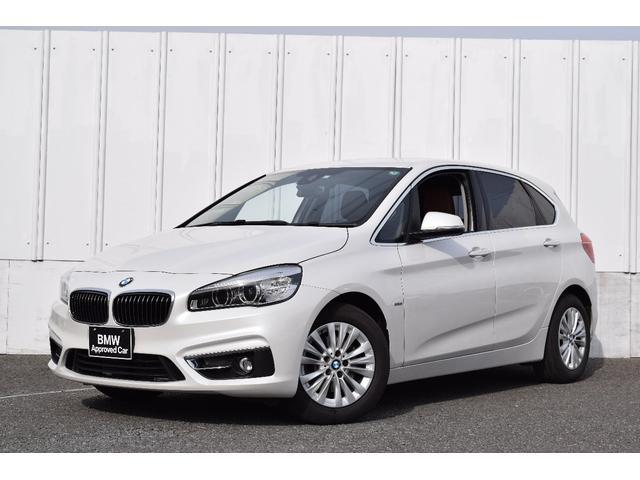 BMW 218dアクティブツアラー ラグジュアリー ワンオーナー 地デジ 純正ナビ バックカメラ 前後障害物センサー ブラウンレザー シートヒーター Bluetooth USB接続 CD LEDライト 衝突軽減ブレーキ 車線逸脱警告 ETC