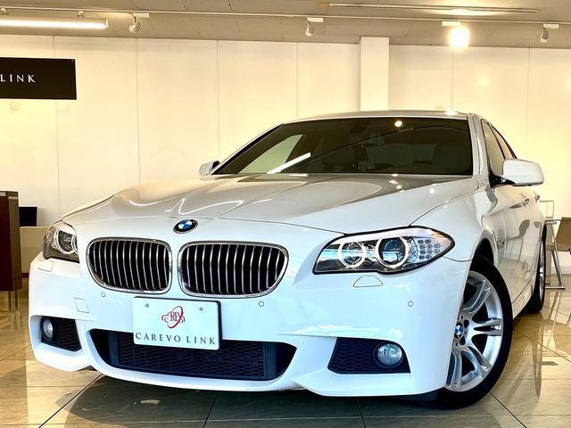 BMW 5シリーズ 528i Mスポーツパッケージ 2Lターボモデル 弊社下取 サンルーフ 電動シート ブラックレザー パドルシフト HIDヘッドライト ウッドパネル I driveナビゲーション バックカメラ