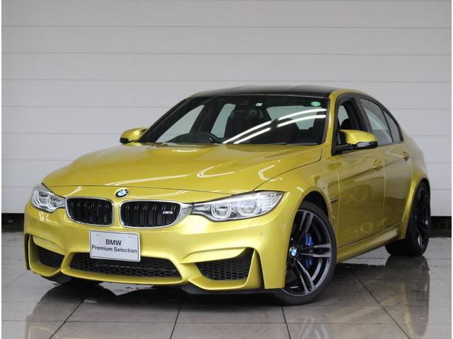 BMW M3 M3 M DCTドライブロジック 衝突被害軽減ブレーキ 車線逸脱警告 ブラックメリノレザー 19AW Harman/Kardonサラウンド シートヒーター iDriveナビ リヤビューカメラ LED
