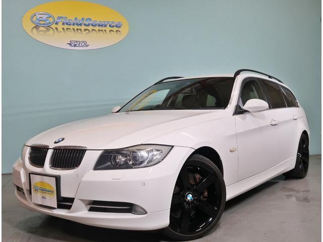 BMW 335iツーリング 純正ナビ黒革電動暖席ETCスマートkey