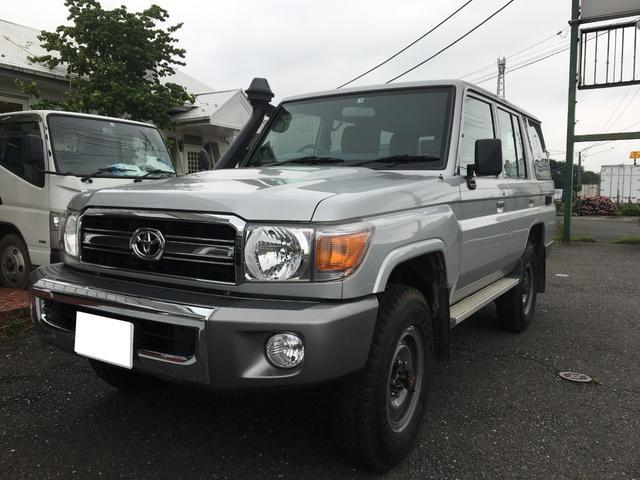 トヨタ ランドクルーザー70 シュノーケル付 オールペイント済