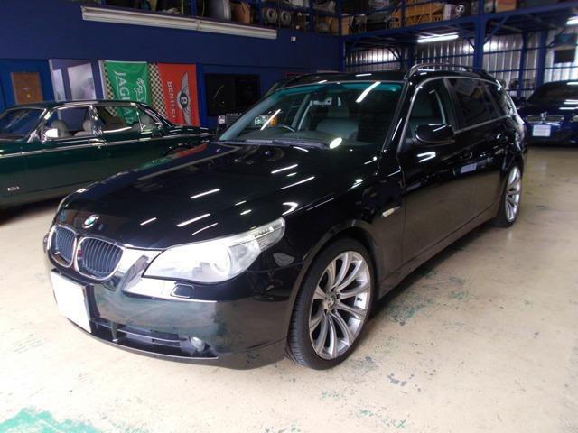 BMW 525iハイライン エアサス&コンプレッサー交換済 黒革