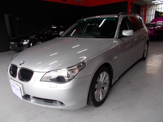 BMW 525ハイライン 黒革シート 純正ナビ ディーラー整備車両