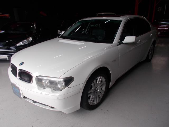 BMW 745i キセノン サンルーフ 黒革 純正ナビ DL整備車両