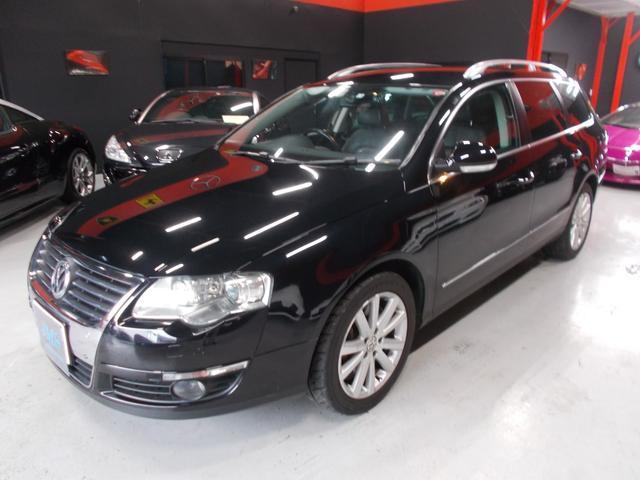 フォルクスワーゲン V6 4モーション キセノン 黒革 HDDナビ DL整備車両