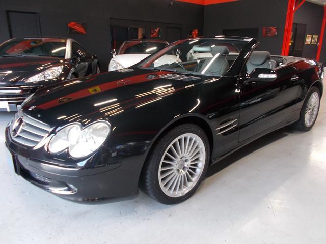 メルセデス・ベンツ SL350 AMG18インチ 黒革 純正ナビ ガラスルーフ