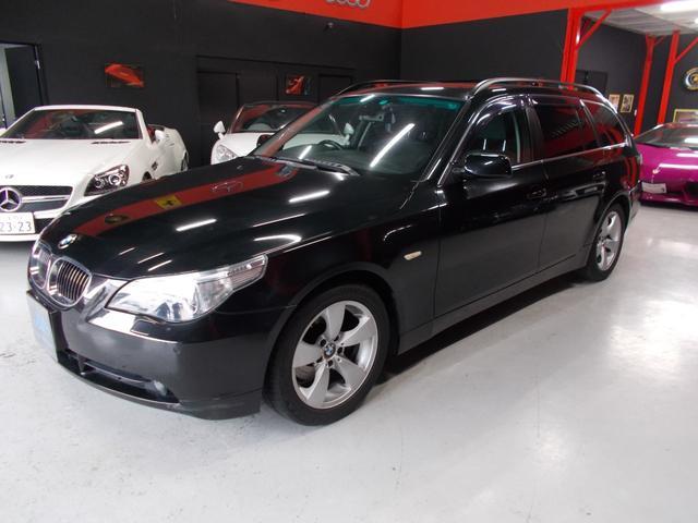 BMW 525WGハイライン 06モデル HDDナビ 黒革サンルーフ