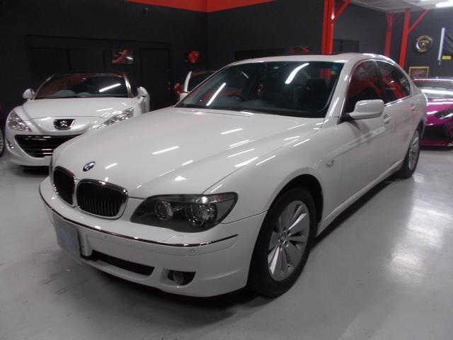 BMW 750i キセノン サンルーフ 黒革 純正ナビ D整備車両