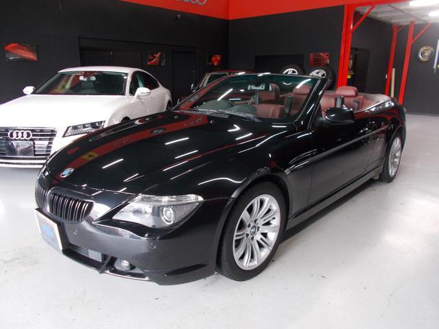 BMW 6シリーズ 645Ciカブリオレ キセノンヘッドライト 電動オープン動作良好 純正18インチ タイヤ8分山以上 前後コーナーセンサー 純正ナビ ワイン革内装 電動シート シートヒーター ETC クルーズコントロール 整備記録簿