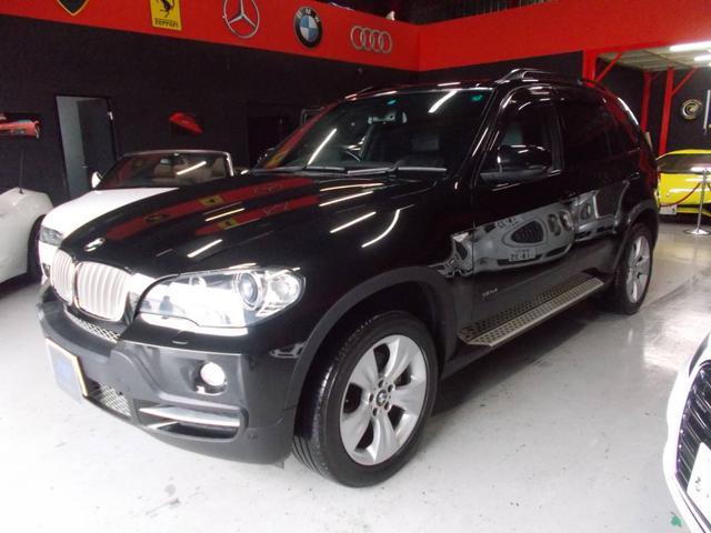 BMW X5  2008後期モデル キセノンヘッドライト サンルーフ 純正19インチ ブリジストン8分山以上 純正HDDナビ バックカメラ 黒革シート 電動シート シートヒーター クルコン ディーラー整備車両