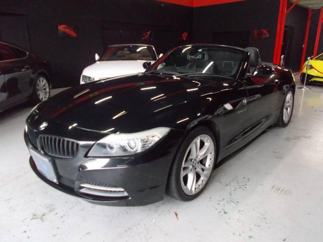 BMW Z4 sDrive23i キセノンヘッドライト 電動オープン動作良好 純正18インチ タイヤ8分山 黒革シート 電動シート シートヒーター 純正ナビ 地デジフルセグテレビ CD録音 DVD再生 パドルシフト ETC 整備記録簿