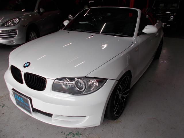 BMW 1シリーズ 120i カブリオレ キセノンヘッドライト オートライト 電動オープン動作良好 社外18インチ タイヤ7分山 電動シート HDDナビ 地デジテレビ バックカメラ CD録音 DVD再生 プッシュスタート スマートキー ETC