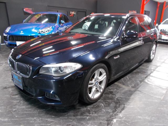 BMW 5シリーズ 523iツーリング Mスポーツパッケージ キセノンヘッドライト サンルーフ プッシュスタート 純正18インチ コンチネンタル8分山 前後コーナーセンサー 純正HDDナビ 地デジフルセグテレビ バックカメラ CD録音 DVD再生 ブルートゥース
