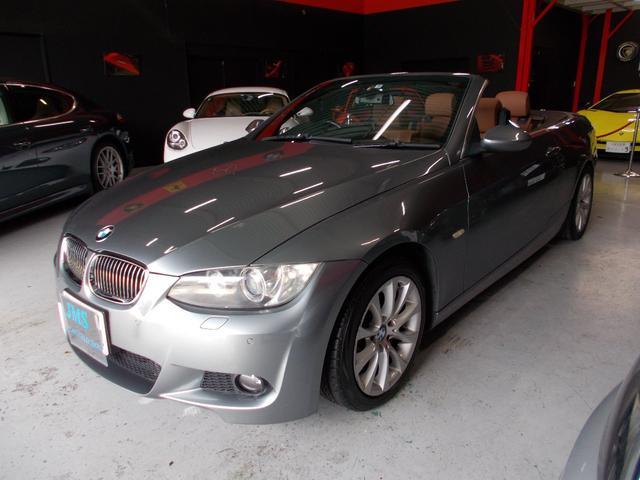 BMW 3シリーズ 335iカブリオレ 電動オープン キセノンヘッドライト 純正17インチ ブリジストン8分山 前後コーナーセンサー キャメル革シート 電動シート シートヒーター プッシュスタート 純正ナビ クルーズコントロール
