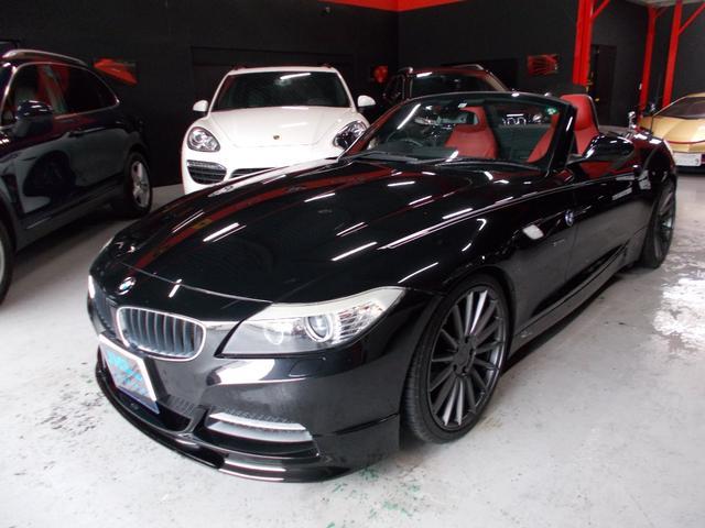 BMW Z4 sDrive23i ハイラインパッケージ MARVINフルエアロ NICHE19インチアルミLEXANI8分山 ローダウン 赤革シート ディーラー整備車両 整備記録簿 キセノンヘッドライト 電動オープン 地デジフルセグテレビ プッシュスタート
