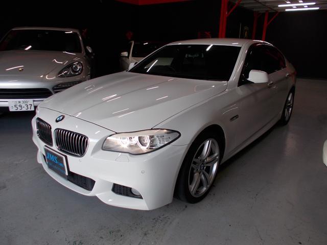 BMW 5シリーズ 528i Mスポーツパッケージ ディーラー整備車両 整備記録簿 キセノンヘッドライト 19インチ プッシュスタート 黒革シート 純正HDDナビ 地デジフルセグテレビ バックカメラ CD録音 DVD再生 ブルートゥース クルコン