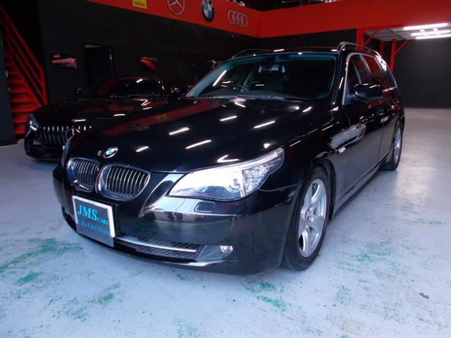 BMW 525iツーリング ハイラインパッケージ 07後期モデル 電子シフト 純正HDDナビ サンルーフ 黒革シート 純正17インチ グッドイヤー8分山 プッシュスタート スマートキー クルーズコントロール レーダー探知機ETC