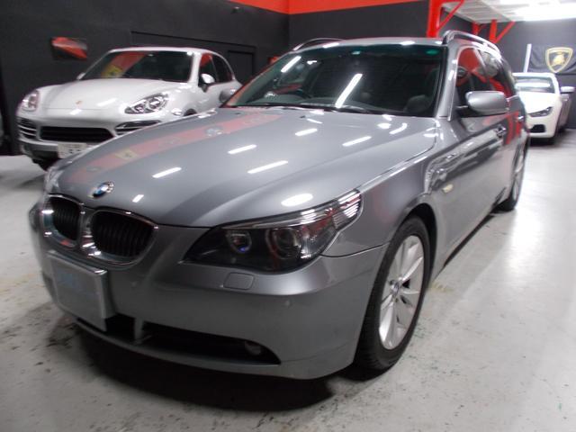 BMW 5シリーズ 530iツーリングハイラインパッケージ 06モデル ディーラー整備車両 整備記録簿 プッシュスタート スマートキー 純正HDDナビ パノラマサンルーフ 黒革シート シートヒーター クルーズコントロール スペアキー ETC