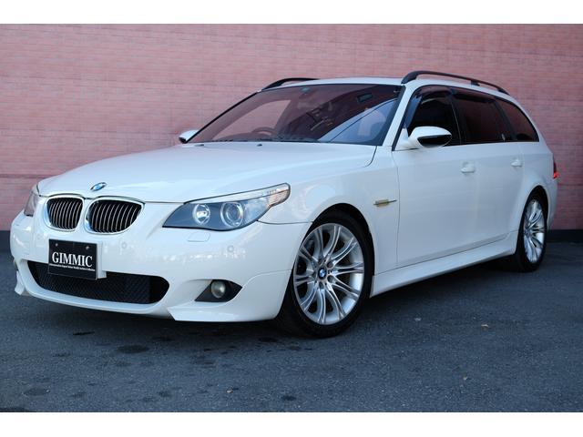 BMW 5シリーズ 530iツーリング Mスポーツパッケージ 3.0Lエンジン Mスポーツ専用前後バンパー/アルミホイール/ブラックハーフレザーシート/ステアリング/スカッフプレート サンルーフ ブラックハーフレザーシート HIDヘッドライト ETC内蔵ミラー