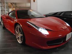 フェラーリ 458イタリアフロントリフティング LEDハンドル ガラスコーティング済