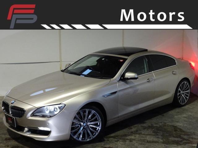 BMW 640iグランクーペ 禁煙 サンルーフ 黒革 ナビ地デジ コンフォートアクセス Bluetooth 新品FORGED20インチAW 新品タイヤ コーディング施工済 デイライト 走行中視聴可 メータースピード表示