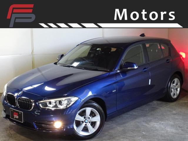 BMW 118i スポーツ 禁煙 HDDナビ インテリジェントセーフティ LEDライトPKG Bluetooth クルコン レーンアシスト I-STOP ドライビングパフォーマンスコントロール ディーラー整備