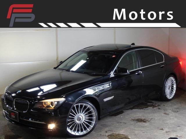 BMW 7シリーズ 740i 禁煙 プラスPKG HDDナビ地デジバックカメラ サンルーフ 黒革 コンフォートアクセス クルコン 電動トランク アルピナタイプ新品21AW 新品タイヤ ユピテル製レーダー ディーラー整備