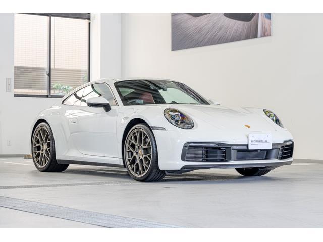 ポルシェ 911 911カレラ4 GTスポーツステアリングホイール ポルシェクレストエンボスヘッドレスト 20/21インチRSスパイダーデザインホイール シートベンチレーション エントリー&ドライブ プライバシーガラス スポーツクロノ