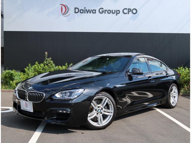 BMW 6シリーズ 640iグランクーペ Mスポーツパッケージ ブラックサファイア ブラックレザー ガラスサンルーフ 法人ワンオーナー 走行約39600km シートヒーター クルーズコントロール 純正ナビ TV バックカメラ 車検令和4年9月 19インチAW