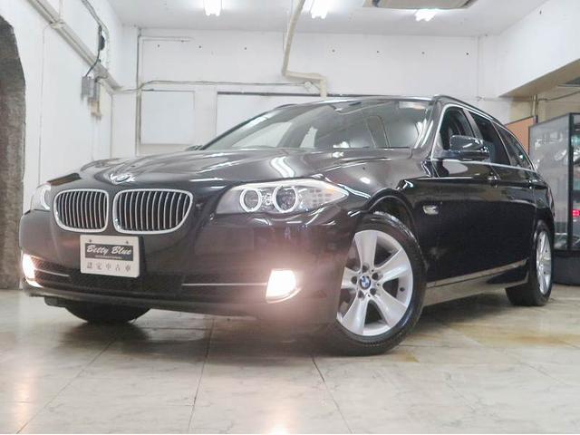 BMW 528iツーリングハイライン 半年保証 1オナ 革 ナビTV