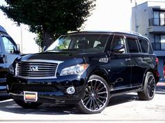 QX80 4WD シアターパッケージ 新車並行車 ブラックライノ製24インチアルミ ブラックレザーシート セカンドキャプテン 電動格納サードシート アラウンドビューモニター HDDナビ・地デジ サンルーフ