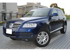 VW トゥアレグV6 ベージュ本革電動シート HDDナビ 地デジ HID