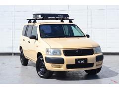 サクシードバンU 4WD オールペイント(施工日R3年9月)リフトアップ 15インチブラックホイール ATタイヤ ルーフラック シートカバー