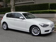 BMW116i スタイル 白ハーフ革 ナビバックカメラ 衝突警告