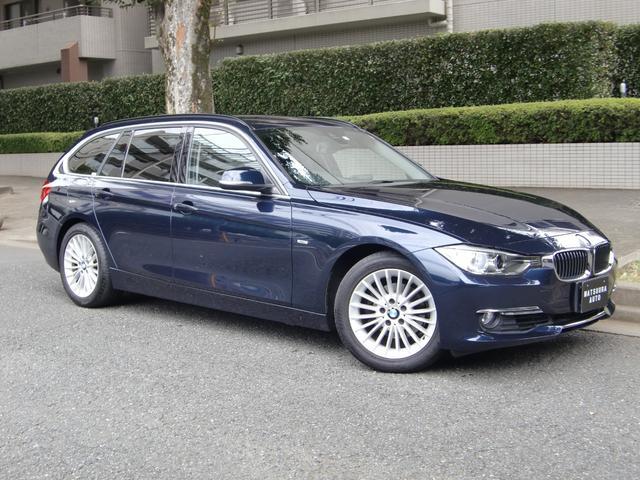 BMW 320iツーリング ラグジュアリー 禁煙車 黒革シート シートヒーター 衝突軽減レーダーセフティ 純正ナビ バックカメラ スマートキー パワーリアゲート
