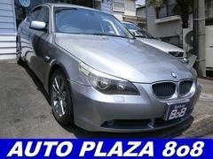 BMW525i 黒革シート 定期点検記録簿付 社外17インチアルミ