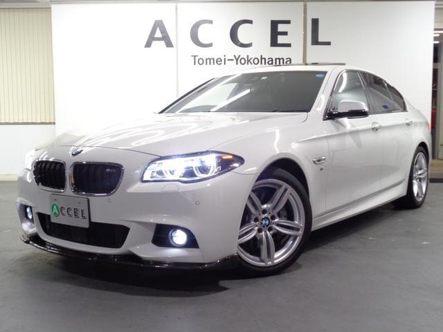 BMW アクティブハイブリッド5 Mスポーツ ガラスサンルーフ ブラックレザーシート&ヒーター 純正HDDナビ&TV バックカメラ ACC コンフォートアクセス レーンチェンジウォーニング 純正19インチアルミ