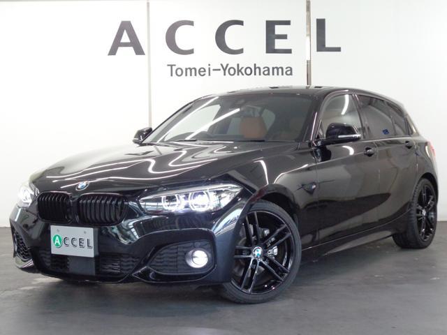 BMW 118i Mスポーツ エディションシャドー 限定車 ブラウンレザーシート&ヒーター ACC 純正HDDナビ バックカメラ コンフォートアクセス LEDヘッドライト&テールランプ 専用ブラックホイール ワンオーナー