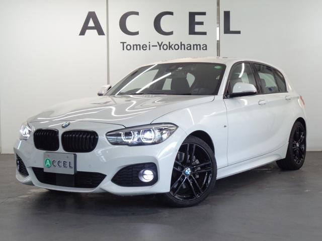 BMW 118d Mスポーツ エディションシャドー 限定車 ブルーステッチ入りブラックレザーシート&ヒーター ACC 純正HDDナビ バックカメラ PDC コンフォートアクセス 専用18インチアルミ ダークLEDヘッドライト&テールランプ