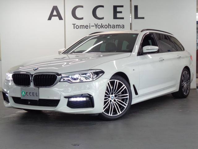 BMW 5シリーズ 523dツーリング Mスポーツ ブラックレザーシート&ヒーター ACC トップビューカメラ 純正HDDナビ&TV コンフォートアクセス 電動テールゲート LEDヘッドライト 純正19インチアルミ