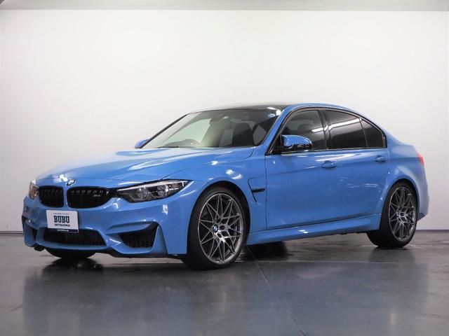 BMW M3セダン コンペティション 1オーナー 専用チューン450psカタログ値 専用Mスポーツシート 専用Mストライプシートベルト アダプティブMサスペンション ドライビングアシスト レーンチェンジウォーニング