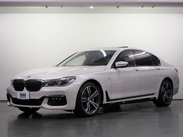 BMW 7シリーズ 750i Mスポーツ 1オーナー M PERFORMANCEサイドスカート ブラウンレザー FRシートヒーター Fベンチレーション Fマッサージ 純正HDDナビゲーション パノラマカメラ harmanKardon ETC