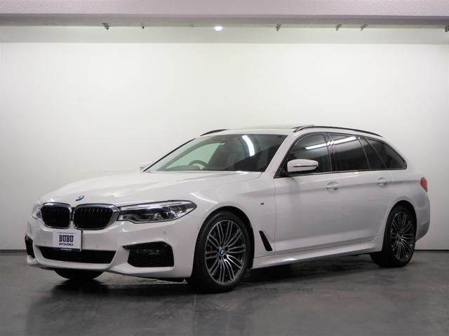 BMW 530iツーリング Mスポーツ 正規D車 純正ナビ 地デジTV 360°カメラ ACC LCW LDW レーン&ステアリングコントロール ドライビングアシスト 黒革 前後シートヒーター パドルシフト Mスポ19AW LED-HL