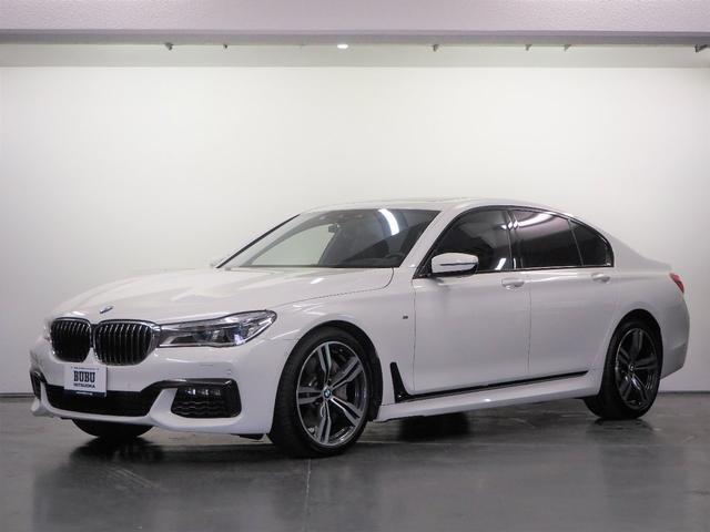 BMW 7シリーズ 750i Mスポーツ 1オーナー Mスポ20インチAW レーザーHL 正規D車 黒革シート FRシートヒーター Fベンチレーション/マッサージ 純正HDDナビ 地デジ トップビューカメラ  ACC パドルシフト ガラスSR