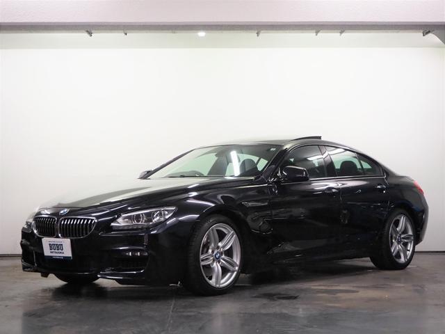 BMW 640iグランクーペ Mスポーツパッケージ 正規D車 純正HDDナビ 地デジTV Bカメラ 前後PDC クルーズコントロール 黒ハーフレザー シートヒーター パドルシフト サンルーフ 純正OP19インチAW LEDヘッドライト
