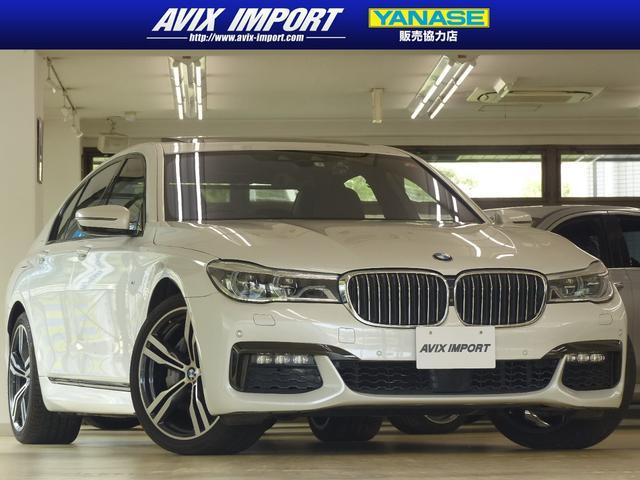 BMW 7シリーズ 740i Mスポーツ 黒革 SR TOP&3Dビューカメラ Dアシストプラス 20AW ヘッドアップD ACC LEDライト 自動トランク リモートパーキング 1オナ ソフトクローズドア 後席サイド&リアブラインド